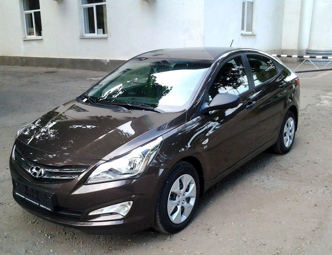 Прокат авто Hyandai Solaris в Минске, вид салон